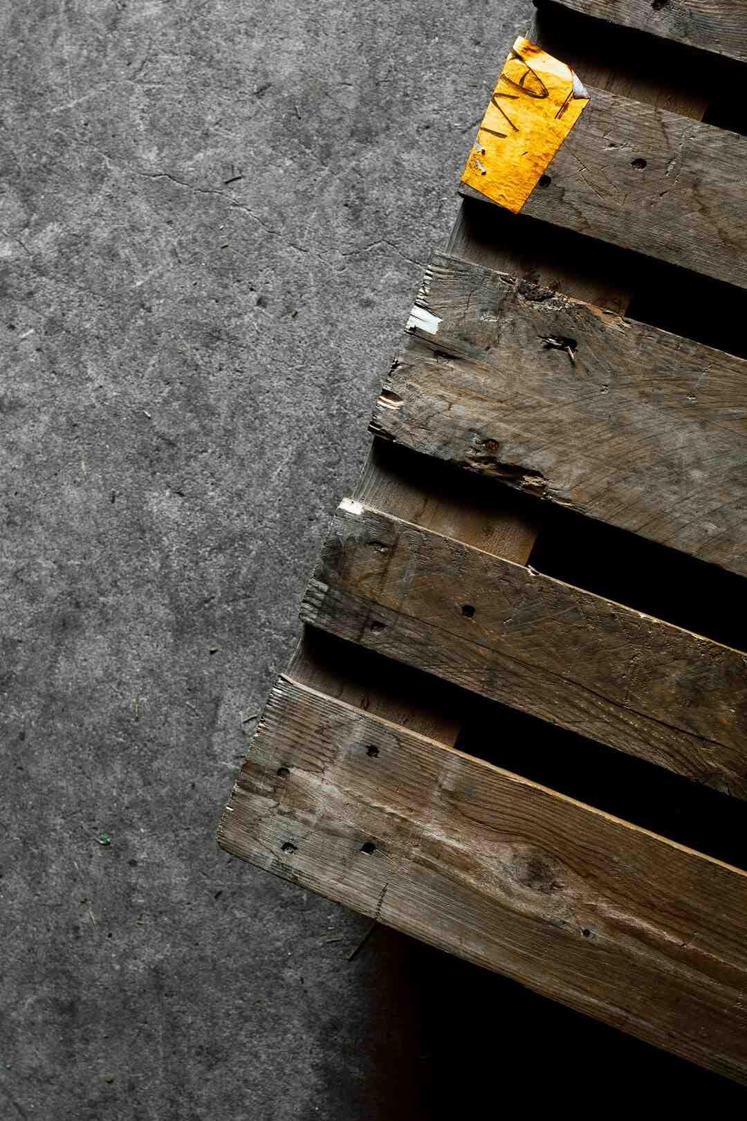Comment nettoyer les palettes en bois